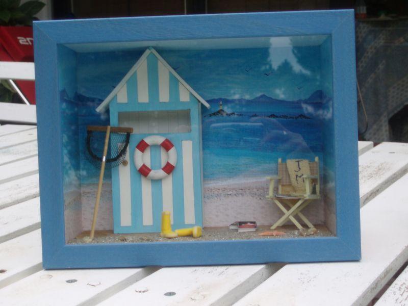 Miniatures co archives du blog la cabine de plage 1 for Cabane de plage bois